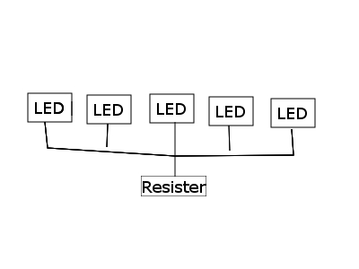 Diagram of parallel LEDs